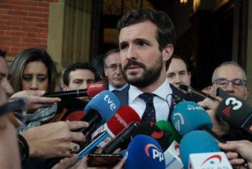 """Casado: """"Aquellos que no condenan el asesinato de Ordóñez no pueden ser interlocutores políticos"""