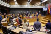 El Parlamento de Navarra guarda un minuto de silencio por el fallecido en accidente laboral en Sumbilla