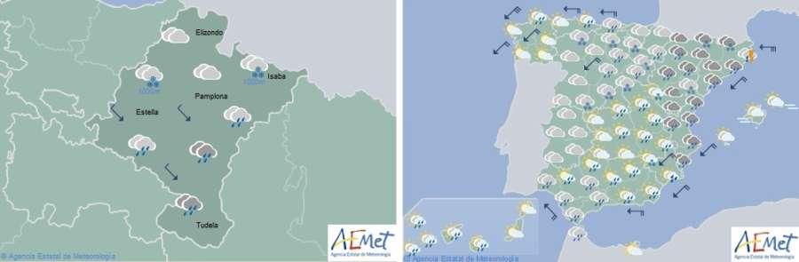 El tiempo para hoy miércoles en Navarra y España