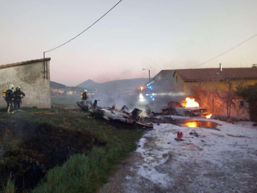 Fallece al precipitarse la avioneta que pilotaba cerca del aeropuerto de Noáin (Navarra)