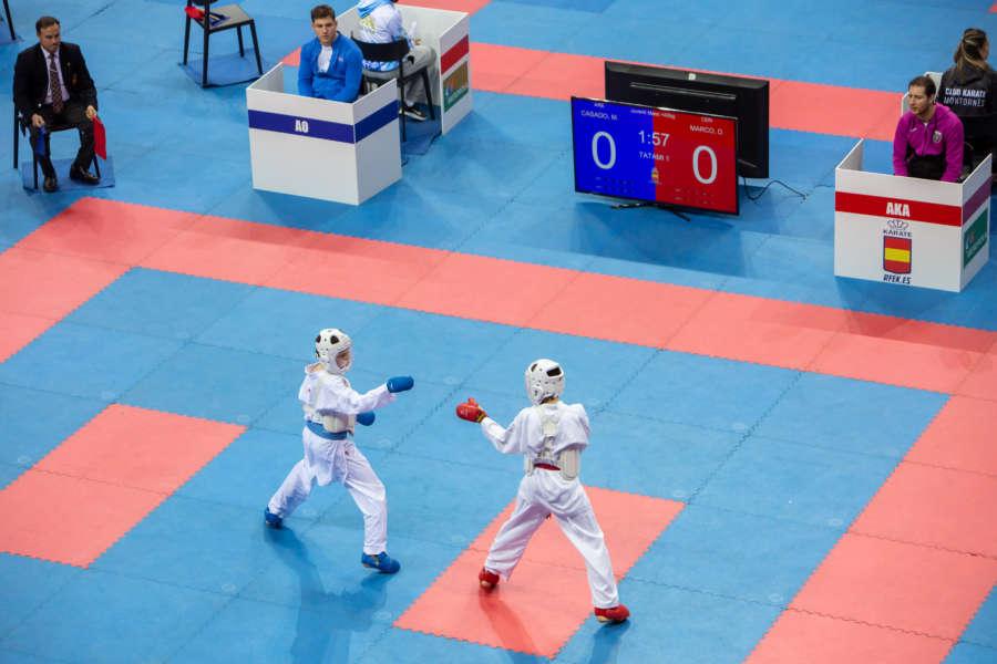 Navarra Arena acoge a cientos de karatekas en la primera fase de la Liga Nacional