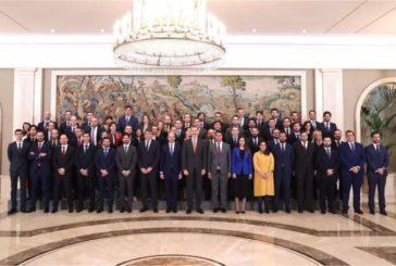 El rey recibe a la Comisión Ejecutiva de CEAJE y a AJE Navarra