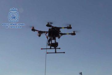 El sistema antidrones de la Policía Nacional neutraliza cada día tres vuelos no autorizados en Madrid