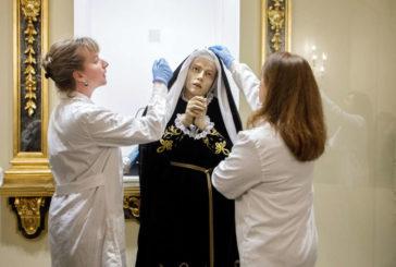 El Ayuntamiento de Pamplona inicia la restauración de la imagen de La Dolorosa y de sus andas procesionales