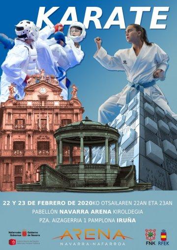 AGENDA: 22-23 febrero, en Navarra Arena, Primera fase Liga Nacional de Kárate