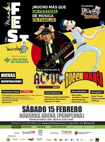 AGENDA: 15 de febrero, en Navarra Arena, Festival de música en familia