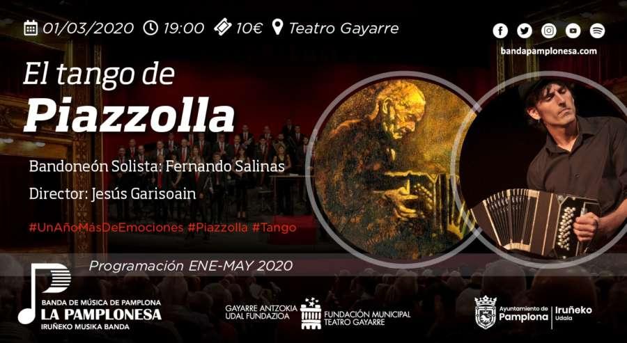 'El Tango de Piazzolla' con La Pamplonesa en el Teatro Gayarre