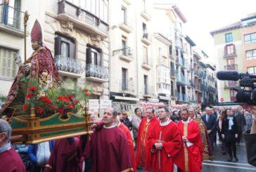 Pamplona celebra la tradicional Fiesta de San Blas en el Casco Viejo