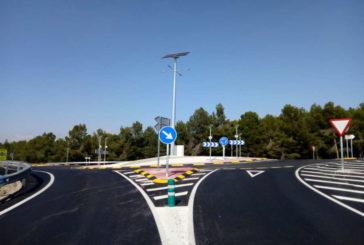 Finaliza la construcción de la rotonda entre Peralta, San Adrián y Andosilla