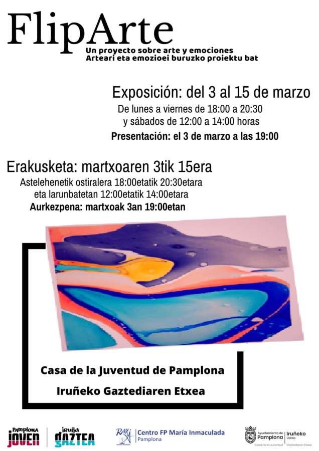 AGENDA: 5 a 15 de marzo, en Casa de la Juventud de Pamplona, exposición 'FlipArte'