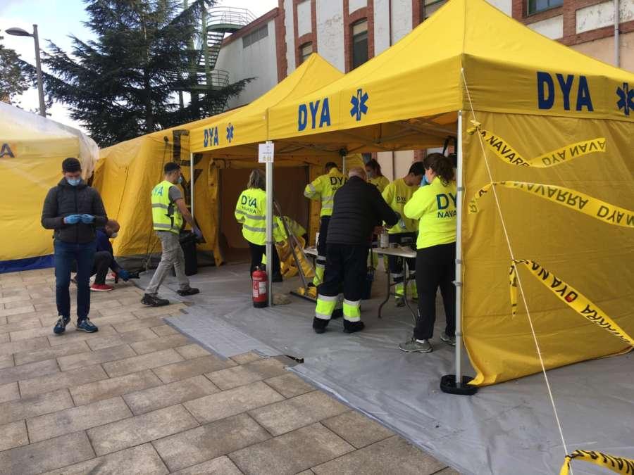 DYA instala un túnel de desinfección en el Complejo Hospitalario de Navarra