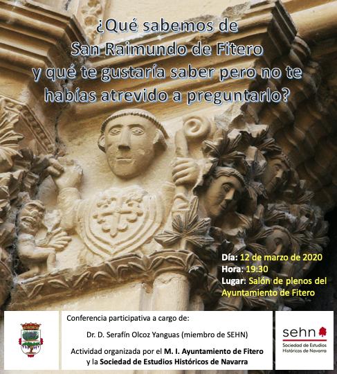 """AGENDA: 12 de marzo, en el Ayuntamiento de Fitero, conferencia """"¿Qué sabemos sobre San Raimundo de Fitero…"""""""