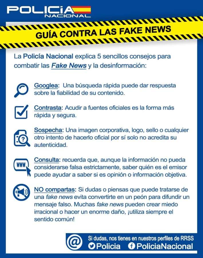 """""""La Policía Nacional presenta la primera guía para evitar ser manipulados por las """"fake news"""""""