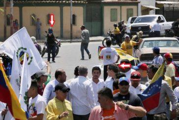 Apuntan al Presidente Guaidó durante la movilización en Lara, Venezuela