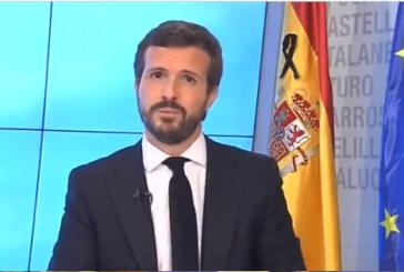 """Casado acusa a Sánchez de mentir y asegura que la paciencia de los españoles """"está al límite"""""""