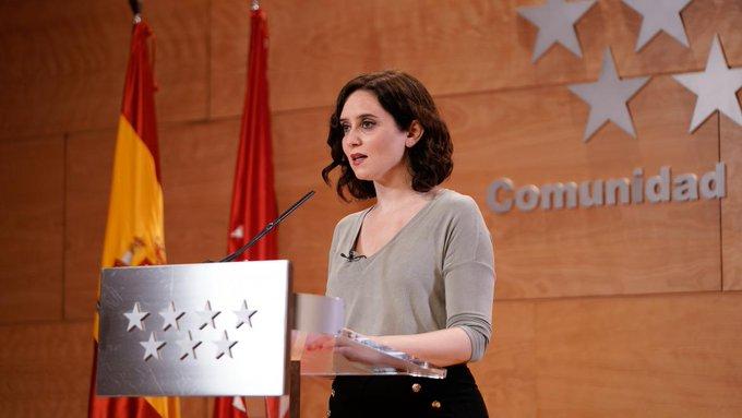 Ayuso: El 4 de mayo Madrid va a elecciones porque está en su derecho