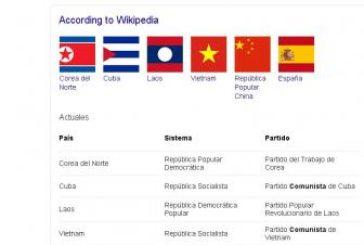 Google incluye a España en el listado de países comunistas