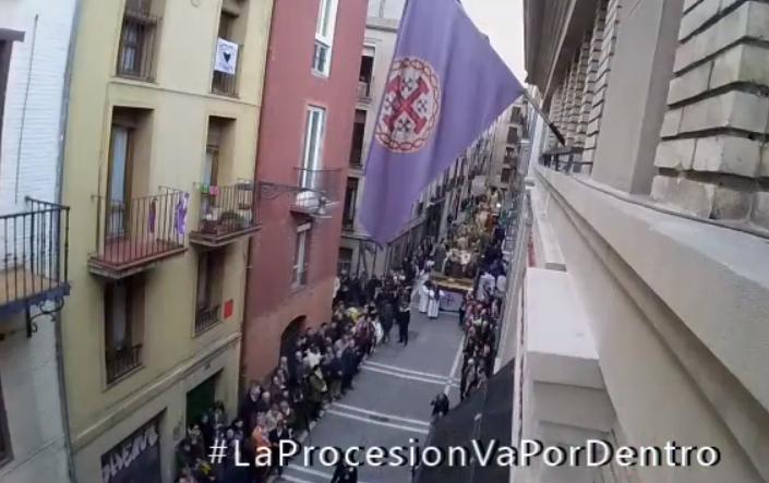 La Hermandad de la Pasión de Pamplona lanza la campaña #LaProcesionVaPorDentro por el coronavirus