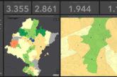 El Laboratorio de Humanidades Digitales de la Universidad de Navarra lanza una web con mapas sobre la incidencia del coronavirus en Navarra