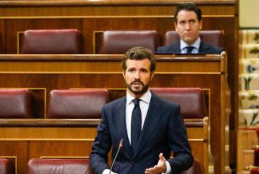 """Casado a Sánchez: """"Si quiere pactar algo, cosa que dudo, que sea en el Parlamento, con luz y taquígrafos"""""""