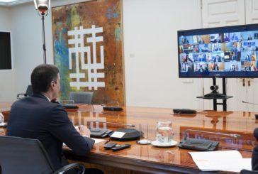 Comienza la 14 reunión de Sánchez con los presidentes autonómicos, que coincide con el tercer mes en estado alarma