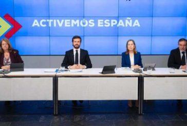 """Casado presenta 'Activemos España': """"Sí hay plan B"""""""