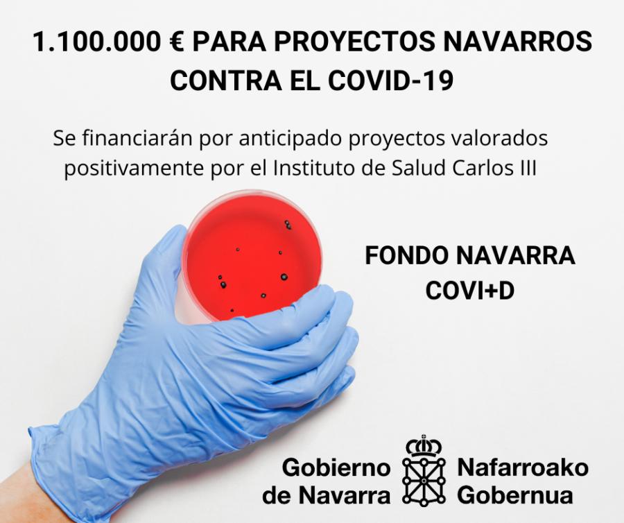 Navarra financiará investigaciones sobre coronavirus valoradas por el Instituto Carlos III