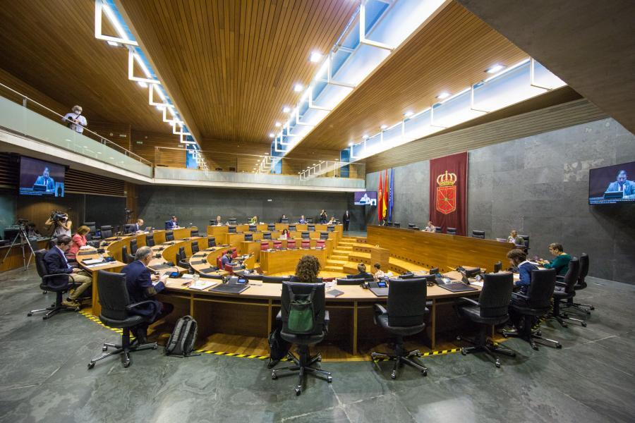 El Parlamento de Navarra rechaza la iniciativa de Na+ para modificar la ley de Presupuestos