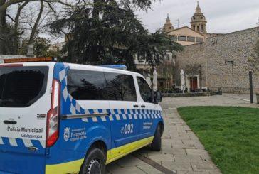 El incumplimiento de horarios del estado de alarma, principal causa de las denuncias de la Policía Municipal de Pamplona
