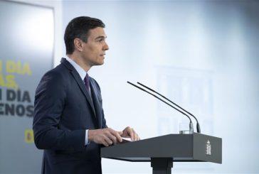 Sánchez anuncia la apertura de fronteras, medidas en Educación y estímulo para la automoción