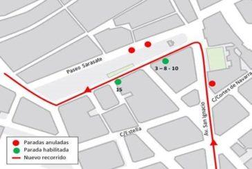 Modificación transporte urbano comarcal en Pamplona para mañana sábado