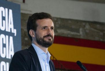 """12-J: Casado critica que la """"nueva normalidad"""" del PSOE sea """"la creación de desempleo y la división"""""""