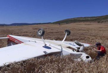 2 heridos en un aterrizaje forzoso de una avioneta entre Sangüesa y Aibar
