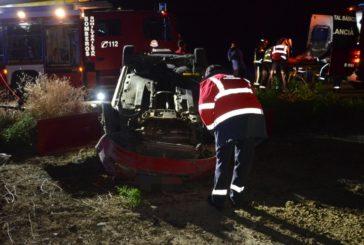 Un herido grave y tres leves en un accidente en Falces (Navarra)