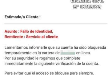 La Guardia Civil investiga varias estafas suplantando a un banco por SMS