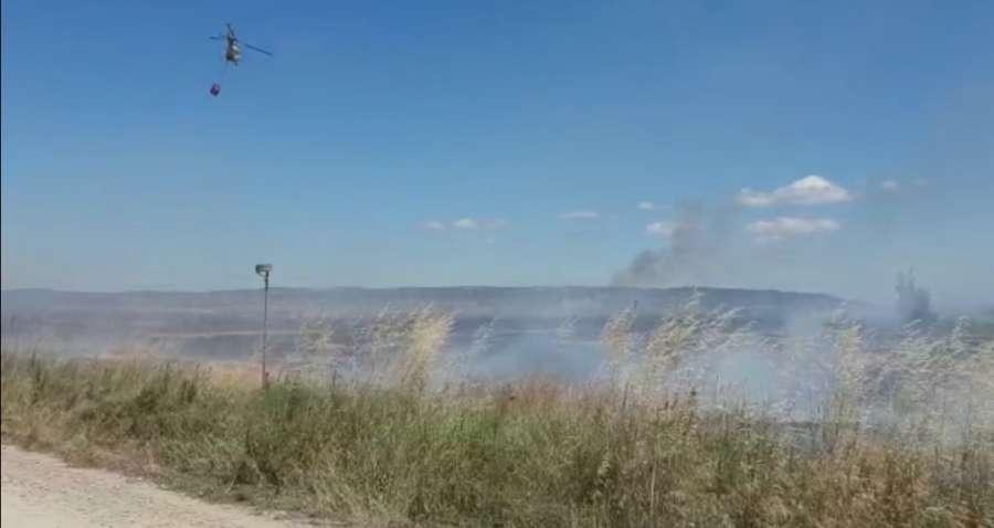 Extinguido el incendio en Mélida