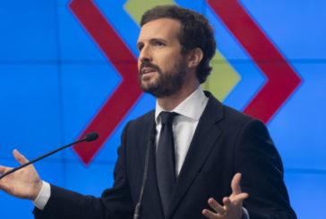 Casado lamenta que Sánchez rechace los pactos del PP para reconstruir España