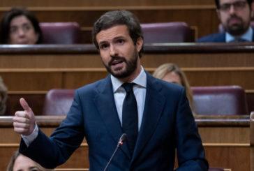 Casado acusa a Sánchez de rechazar su mano tendida: