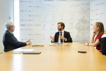 Casado propone al Gobierno incorporar las medidas del Pacto Cajal del PP al decreto de