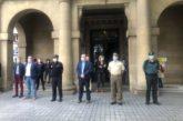 La Delegación del Gobierno en Navarra guarda un minuto de silencio