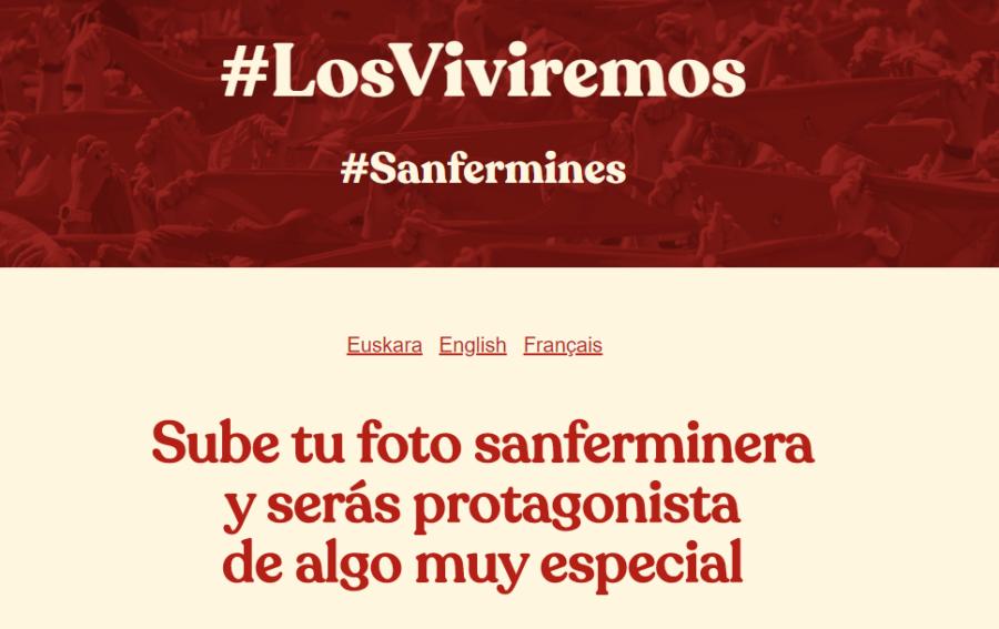Sanfermines virtuales en la campaña #LosViviremos