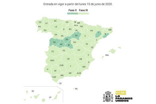 Tres de cada cuatro españoles podrán retomar las actividades recogidas en la Fase 3