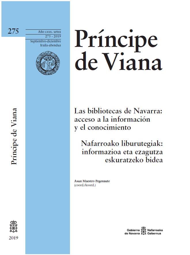 La revista Príncipe de Viana dedica un monográfico a las bibliotecas de Navarra