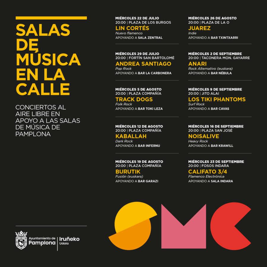 AGENDA: 29 de julio a 23 septiembre, en Pamplona, Conciertos al aire libre