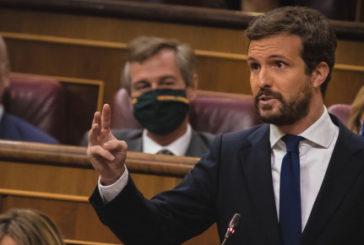 """Casado pide a Sánchez que cumpla ahora con los españoles tras el """"rescate"""" de la UE a España"""