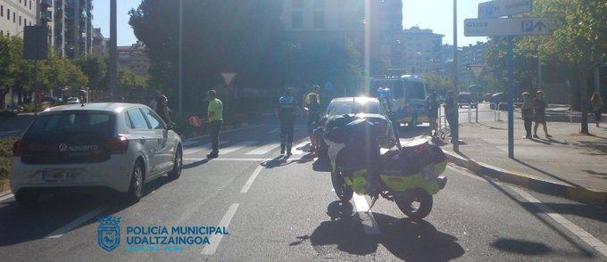 Atropellado un hombre de 86 años en Pamplona
