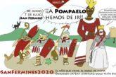 La Asociación Pompaelo estrena pancarta en estos Sanfermines 2020