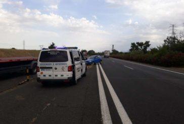 Ilesa una mujer que conducía en dirección contraria por la AP-15 km.11