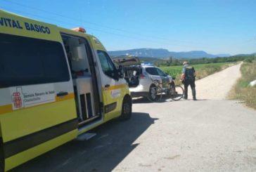 La Guardia Civil auxilia a un ciclista accidentado en Huarte Araquil