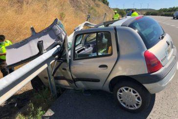 Trasladada al CHN en un accidente en AP15 a la altura de Pueyo